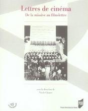 Lettres de cinéma ; de la missive au film lettré - Intérieur - Format classique