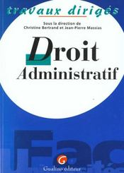 T.d droit administratif - Intérieur - Format classique