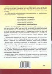 Dietetique de l'experience ; 50 annees d'observation - 4ème de couverture - Format classique
