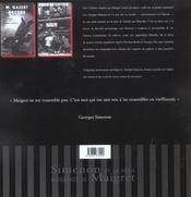 Simenon et la vraie naissance de maigret - 4ème de couverture - Format classique