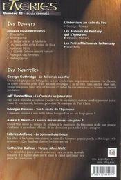 Faeries 15 special david eggins t15 - 4ème de couverture - Format classique