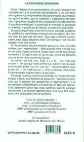 Psychose Ordinaire : La Convention D'Antibes (La) - 4ème de couverture - Format classique