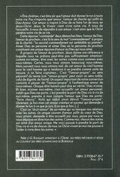 Breves leÇons de vie chretienne - 4ème de couverture - Format classique