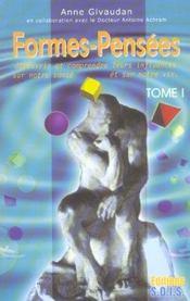 Formes-Pensees T.1 - Decouvrir Leurs Influences - Intérieur - Format classique