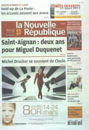 Nouvelle Republique (La) N°20494 du 14/03/2012 - Couverture - Format classique