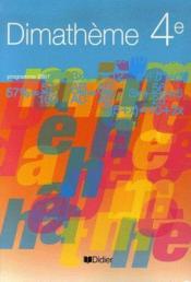 Mathématiques ; 4ème ; livre de l'élève - Couverture - Format classique