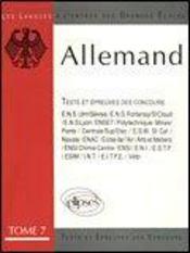 L'Allemand Tests Et Epreuves Des Concours A L'Entree Des Grandes Ecoles Tome 7 E.N.S.Ulm - Intérieur - Format classique