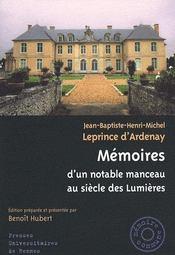 Memoires D Un Notable Manceau - Intérieur - Format classique
