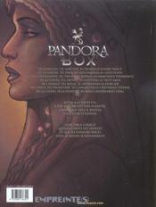 Pandora box t.3 ; la gourmandise - 4ème de couverture - Format classique
