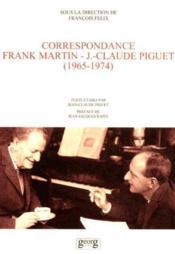 F. Martin ; Jc Plguet ; Correspondances - Couverture - Format classique