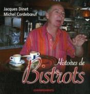 Histoires De Bistrots - Couverture - Format classique