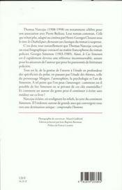 Le Cas Simenon - 4ème de couverture - Format classique