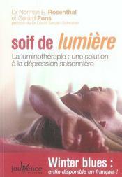 Soif de lumière ; winter blues ; prendre soin de soi par la luminothérapie - Intérieur - Format classique