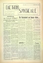 Action Syndicale (L') N°4 du 01/06/1959 - Couverture - Format classique