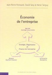 Economie De L'Entreprise Strategie Organisation Et Finance De L'Entreprise - Intérieur - Format classique