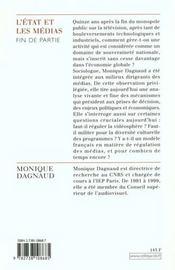 L'Etat Et Les Medias - 4ème de couverture - Format classique