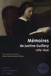Memoires De Justine Guillery (1789 1846) - Intérieur - Format classique