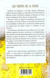 Les Vertus De La Biere - 4ème de couverture - Format classique
