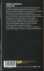 Lagos 666 - 4ème de couverture - Format classique