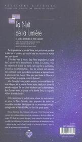 La nuit de la lumière - 4ème de couverture - Format classique