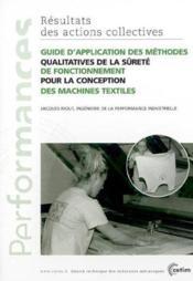 Guide d'application des methodes qualitatives de la surete de fonctionnement pour la conception perf - Couverture - Format classique