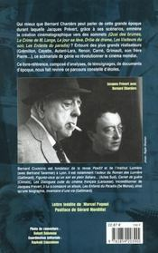 Cinema De Jacques Prevert (Le ) - 4ème de couverture - Format classique