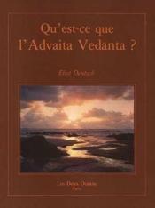 Qu'est-ce que l'Advaita Vedânta ? - Couverture - Format classique