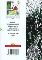 Monster t.3 ; 511Kinderheim - 4ème de couverture - Format classique