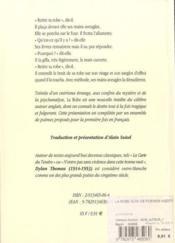 La robe ; poèmes inedits - 4ème de couverture - Format classique