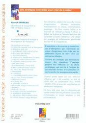 L'Entreprise Elargie : De Nouvelles Formes D'Organisation. Exemples De Strategies Collaboratives : E - 4ème de couverture - Format classique