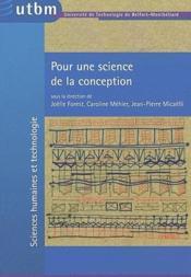 Pour une science de la conception - Couverture - Format classique
