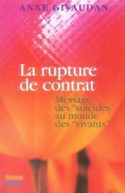 La rupture de contrat ; messages des