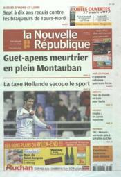 Nouvelle Republique (La) N°20496 du 16/03/2012 - Couverture - Format classique