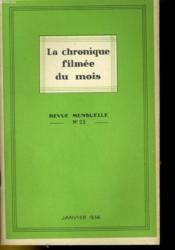 La Chronique Filmee Du Mois N°23 - Couverture - Format classique