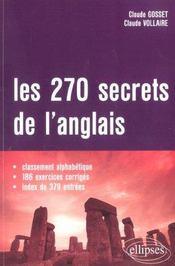 Les 270 Secrets De L'Anglais Classement Alphabetique 186 Exercices Corriges Index De 379 Entrees - Intérieur - Format classique