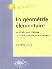 La Geometrie Elementaire Au Fil De Son Histoire Dans Les Programmes Francais - Intérieur - Format classique