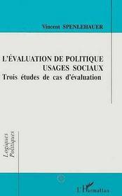 L'Evaluation De Politique, Usages Sociaux - Intérieur - Format classique