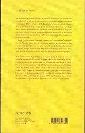 Les fils de la médina - 4ème de couverture - Format classique