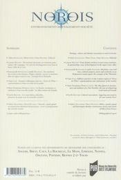 Revue Norois ; Patrimoine, Culture Et Construction Identitaire Dans Les Territoires Ruraux - 4ème de couverture - Format classique