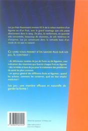 Jus Frais De Fruits Et De Legumes - 4ème de couverture - Format classique