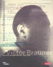 Victor brauner - Couverture - Format classique