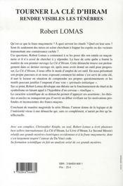 Ltourner A Cle D'Hiram T.2 - 4ème de couverture - Format classique