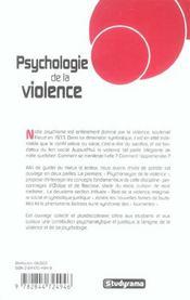 Psychologie De La Violence - 4ème de couverture - Format classique