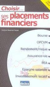 Choisir ses placements financiers - Intérieur - Format classique