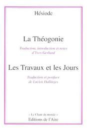 Theogonie -la- les travaux et les jours - Couverture - Format classique