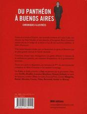 Du Panthéon à Buenos Aires - 4ème de couverture - Format classique