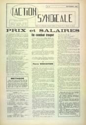 Action Syndicale (L') N°5 du 01/09/1959 - Couverture - Format classique