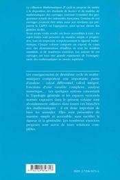Topologie Mathematiques 2e Cycle - 4ème de couverture - Format classique