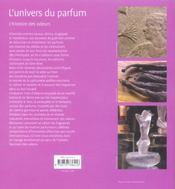 L'univers du parfum ; l'histoire des odeurs - 4ème de couverture - Format classique