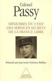 Mémoires du chef des services secrets de la France libre - Intérieur - Format classique